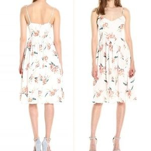 BB Dakota  Floral Print Midi Dress - size 10